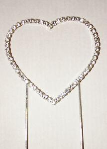 Heart, Diamante, Large Cake Topper, Wedding, Engagement, Anniversary, Cakes