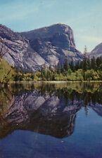 postcard USA  California Yosemite National Park Mirror Lake & mountain unposted