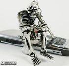 Schlüsselanhänger Totenkopf Schädel Rock Mode Goth Punk Biker Harley Idee Gift