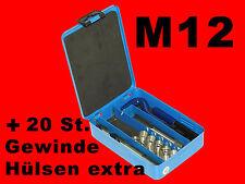 M12 HSS-G Profi Gewinde Reparatur Werkzeug Helicoil inkl. 34 Gewindehülsen B1956
