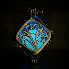 Fashion Glow In The Dark Hollow Cube Tree Of Life Pendant Necklace Jewelry Gift