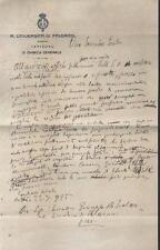 1925 bozza lettera Prof. GIUSEPPE ODDO al Senatore GIUSEPPE LANZA DI SCALEA