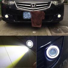 "2Pcs 2.5"" COB LED Fog Light Projector Lamp& White Angle Eyes Ring Bulb DRL Cool"