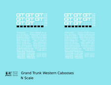 K4 N Decals Grand Trunk Western Caboose White