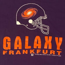 Rare Vtg 90's Frankfurt Galaxy World League Football T Shirt Purple Orange Xl