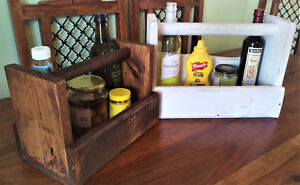 Sauce Caddy - Garden BBQ Picnic Tote Carrier - Handmade Rustic / Shabby chic