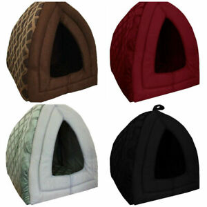 New Small & Large Pet House Soothed Comfortable Cat Dog Igloo Treat Lair 2 Sizes