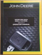 JOHN DEERE GATOR 6X4 DIESEL UTILITY VEHICLE OPERATORS MANUAL 2002 MODELS & UP