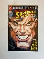 SUPERMAN MAN OF STEEL #25 -- Signed by Dennis Janke with COA