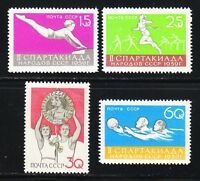 Russia 1959 MNH Sc 2224-2227 Runner,gymnast,water polo.Mi 2249-2252.Spartacists