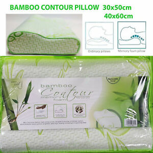 CONTOUR BAMBOO MEMORY FOAM, ORTHOPAEDIC PILLOW FOR BACK-NECK SUPPORT