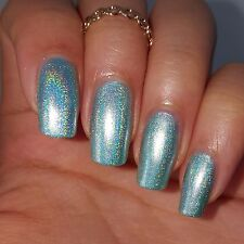 PEARL MINT & SILVER LINEAR HOLOGRAPHIC DUO Nail Polish Indie 5-free Spectraflair
