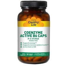 Country Life, glutine libero, coenzima attivo B6 Caps, P-P-5/PAK, 30 Veggie Caps