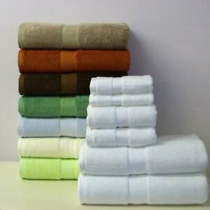 Superior 6 PC Bamboo Cotton Blend Towel Set Highly Absorbent Hotel & Spa Quality