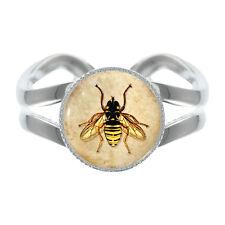 Vintage Biene-gestaltung Versilbert Verstellbarer Ring bienenzucht imker NEU