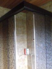 Komplette Eckduschkabine Glasschiebetür, braun, HxTxB 180x84x98cm, 100€ VHB