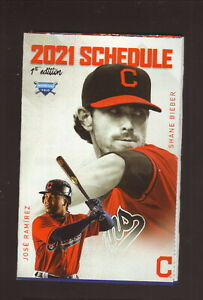 Cleveland Indians--Bieber-- Ramirez--2021 Pocket  Schedule--WBTC/Blooms