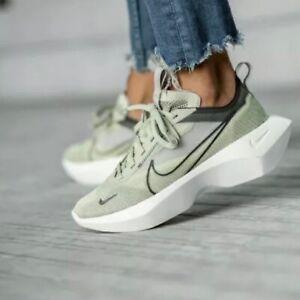 Nike Women's Vista Lite Olive Aura Thunder Grey Running Shoes CI0905-300 Size 10