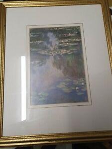 Claude Monet Framed Print - Water Lilies - Gold Frame