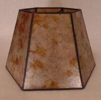 "7"" x 12"" x 7 1/2"" Onyx Color Hexagon Style Mica Bridge Floor Lamp Shade #703s"