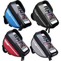 Mountain Bike Front Frame Waterproof Bag Touchscreen Cell Phone Stand Pannier
