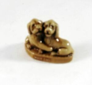 NEW COCKER SPANIELS WADE ENGLAND RED ROSE TEA FIGURINE $5.99 SHIPPING INCLUDED