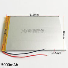 3.7V 5000mAh LiPo Rechargeable Battery For Ipod PAD Power Bank Tablet PC 3580116