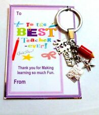 Thank you Gift for Best Ever Teacher 2018 End of School Term on Gift card Bag
