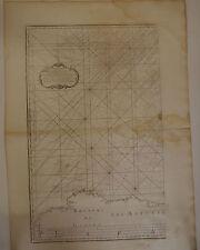 Carte marine Cote des Asturie et Galice époque XVIII° Siècle