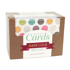 American Crafts Marvelous Boxed Cards and Envelopes - Acid-Free - 40 Pieces