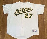 Oakland Athletics #27 Majestic MLB Baseball Jersey Size XL