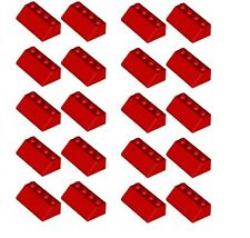 LEGO 20 x  Red Roof Tiles Slopes 2X4/45° NEW