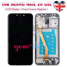 For HUAWEI MATE 20 LITE Digitizer LCD Screen Assembly Replacement + Frame Black