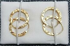80ba489484ec PENDIENTES ARO con dibujo en oro Amarillo de 18 quilates. Peso 0