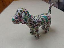 VICTORIAS SECRET    MINI DOG PLUSH   7 INCH GRAFITI   LOVE PEACE PINK  DOG