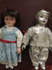 Wizard Of Oz Porcelain Doll Ornament Dorothy and Tin Man. Very Rare Find.