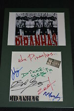 THE PIRANHAS signed Autogramm A4 In Person Passepartout SKA Tom Hark 1980 rar!!