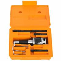 """2"""" Boring Head 1-1/2-18(7/16)head thread+R8 Shank Adjustable 4 Bars Tool Box"""