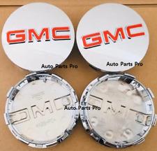 "GMC 83mm CHROME CENTER CAPS 2014-2019 Sierra Limited & Yukon + XL 20"" 22"" RIMS"