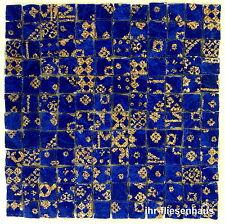 KER-AV Feinsteinzeug Mosaikfliese L155 Oro Blu Blau mit Glitzer 30cm x 30cm