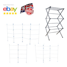 Clothes Airer 2 3 4 Fold Tier Drier Indoor Drying Rack Horse Folding Laundry