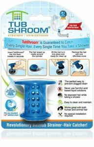 TubShroom® (Blue) Revolutionary Hair Catcher That Prevents Clogged Tub Drains