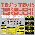 TB015 Decals TB015 stickers Takeuchi Kit Excavator repro Decal Set stickers