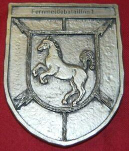 German Plakette des Fernmeldebataillon 1 in Hannover, 152x120x12mm, I/II