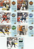 2019-20 UD TIM HORTONS KEY SEASON EVENTS COMPLETE SET OF 7 CARDS