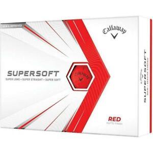 Callaway 642825812 Supersoft Matte Red Golf Balls - 1 Dozen