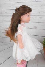"""8-9"""" Custom Doll Wig fits Dolfie, bjd, Wellie Wisher...""""Lil' Dark Fade"""" bn7"""