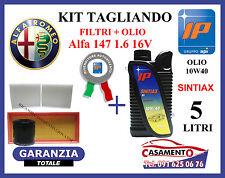 KIT TAGLIANDO OLIO IP 10W40 5LT + FILTRI ALFA 147 1.6 105 120 CV
