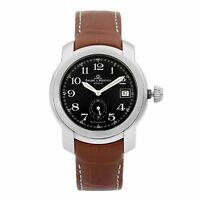 Baume et Mercier Capeland Steel Black Arabic Dial Automatic Mens Watch MV045221