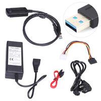 New USB 3.0 to IDE SATA S-ATA 2.5 3.5 Hard Drive HD HDD Converter Adapter Cable